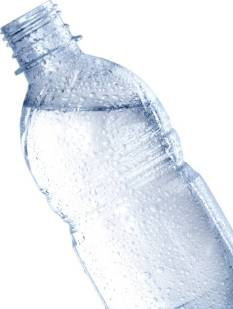 Open Bottle with Cold Water - Isolated